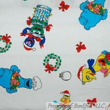 BonEful Fabric FQ Cotton VTG Antique Sesame Street Character Kid Baby Xmas Elmo