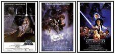 Star Wars Episode IV V VI Movie Poster Set  in Black Wood Frames 24x36