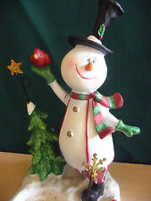 Snowman Tea Light Candle Stand