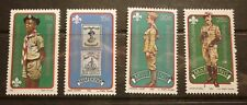 OLD BOY SCOUT GIRL GUIDE STAMP COLLECTION, MAFEKING SET OF 4 MINT 1982