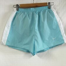 """GUC Dry Fit NIKE Running Fit-DRY WOMEN'S SHORTS Blue White Sz L CLEAN 3"""" Lined"""