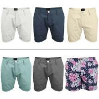 Mens Brave Soul Boxer Shorts Swimming Summer Chino Beach Short Button Waist S M