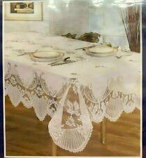2x Victoria Tablecloth With Napkins 137 x 228cm Cream