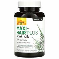 Country Life Maxi Hair Plus 120 Vegetarian Capsules B Corp, Gluten-Free, GMP