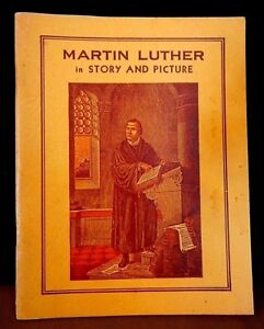 Martin Luther in story & picture 1933 vintage paperback Collectible Book