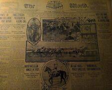 MAY 6, 1904 NEWSPAPER PAGE #J5943- IRISH LAD WINS LAST BIG RACE AT MORRIS PARK
