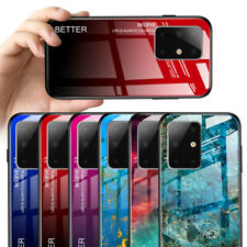 For Samsung Galaxy Note 20/S20+/A51/A71 Glossy Slim Glass Shockproof Case Cover