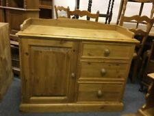 Solid Waxed Pine Storage Cupboard/ Baby Change Unit