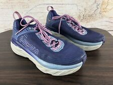 HOKA One One Bondi 6 Athletic Running Shoes Pink/Purple Women's Size US 9