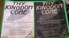 THY KINGDOM COME UFO Vintage 1957-59 L.A. Flying Saucer Pulp Magazines New Age