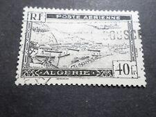 ALGERIE, 1946/47, timbre aérien 6, poste aerienne AVION, oblitéré, VF used stamp