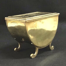 More details for unusual brass aesthetic movement,arts and crafts tea caddy henry loveridge.