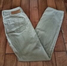 Authentic Women's Burberry Brit Khaki Jeans Straight Leg Size 28