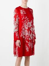 NWT FENDI  floral print shift  Red dress Size 38 $2400