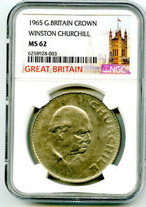 LOT Details about  /UNC 1874 1965 GREAT BRITAIN SIR WINSTON CHURCHILL ONE COMMEMORATIVE CROWN