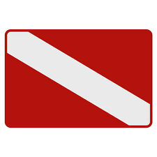 """Dive Flag Very Small Reflective Helmet Decal Diver (1 3/8"""" tall & 2"""" wide)"""