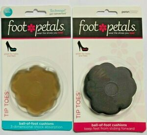 Foot Petals TIP TOES  Ball of Foot Cushions Keep Feet From Sliding Forward