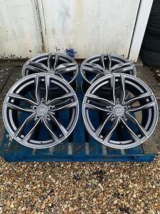 "18"" RS6 Style Alloy Wheels Only Satin Grey/Diamond Cut to fit Audi A3 (2004-on)"