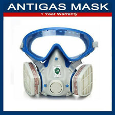 3-IN-1 Gas Mask Full Face Safety Chemical Spray Painting Respirator Vapour Mist