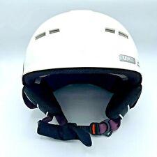 Uvex White Aubergine Mat Skiing and Snowboard Sports Helmet  L/XL (59-61cm)