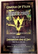 Cradle Of Filth - Damnation and a Day - Rare Original Promo Poster - 20x27.5""
