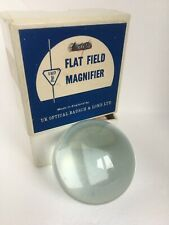 More details for vtg clean domed glass flat field magnifier bausch & lomb maps myopia newspaper !