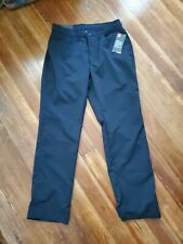 NWT Men's Under Armour Straight Fit Black Golf Pants Size 34X32