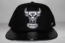 Forty Seven Bulls Jordan 11lab4 Black Patent Leather Snapback Men's Size Cap Hat