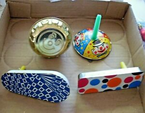 Vintage Metal News Year Eve Noise Makers 4pc