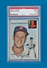 1954 TOPPS BASEBALL #66 TED LEPCIO BOSTON RED SOX PSA 5 EX *SET BREAK*