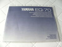 Yamaha EQ-70 Owner's Manual  Operating Instructions Istruzioni   New