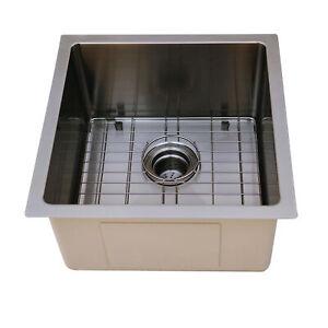 BOANN UM1717-BLK Undermount Kitchen Single Bowl Sink - 17 x 17 -  BLK (Gun Metal