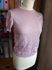 BNWT Armani Jeans fine knit metallic blouse top 10 12 NEW pink cute