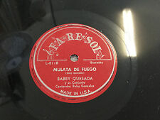 BOBBY QUESADA / MULATA DE FUEGO (GUARACHA) / LA RESOL RECORDS (MINT) 78RPM