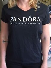 PANDORA JEWELRY CHARM STORE T-SHIRT BLACK WHITE LIMITED EDITION M, L OR XL