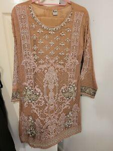 Pakistani Indian Asian Wedding Suit Party Salwar Kameez Size 12-14 brand New