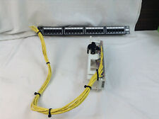 Icc 24-port Cat 5e Network Patch Panel w/ Siemon S66M1-50 Pre-Wired (2 Feet)