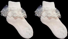Baby Goods  Baby Lace Socks - White Color - Sizes: S-M-L One Pair  (E00011R# )
