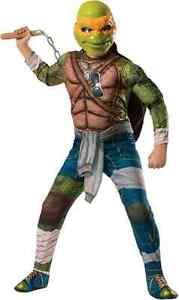Michelangelo TMNT Teenage Mutant Ninja Turtles Halloween Deluxe Child Costume