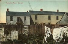 Nantucket MA Old Jail Clothes on Line c1910 Postcard