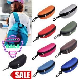 Portable Sunglasses Hard Case Clam Shell Protector Glasses Zipper Box