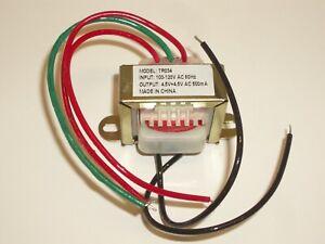 PHILMORE TR034 120VAC TO 9VAC CENTER TAP CT 4.5V-0-4.5V 0.5A POWER TRANSFORMER