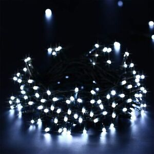 500 LED Solar Power Fairy String Lights Outdoor Waterproof Xmas Tree Party White