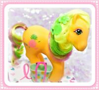 ❤️My Little Pony MLP G1 Vtg Tropical Ponies Tootie Tails Yellow Pineapple 1987❤️