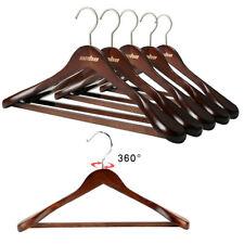 5X High Grade Wooden Hangers Solid Wood Shirt Hangers Dress Coat Jacket hangers