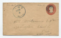 1850s U4 stamped envelope Troy Ohio [y3100]