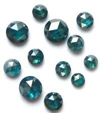 1+ Carat lot of BLUE ROUND Rough ROSE CUT POLISHED DIAMONDS