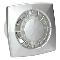 Satin Bathroom Extractor Fan 125mm with Timer and Humidity Sensor Ventilator