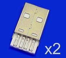 2x Connecteur à souder USB type A male / 2x USB type A Male solder connector