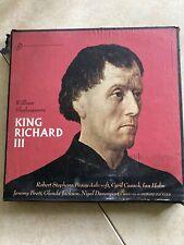 The Shakespeare Recording Society: King Richard III 4 LP Set- VINTAGE